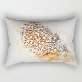 Bird animal owl art abstract Rectangular Pillow