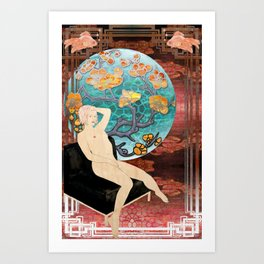 lauren_ver_1 Art Print