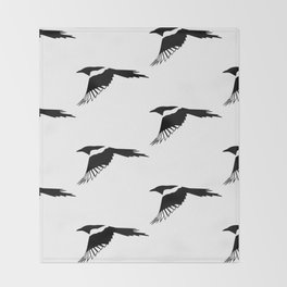 Pica Pica (magpie) many Galery Giftshop Throw Blanket