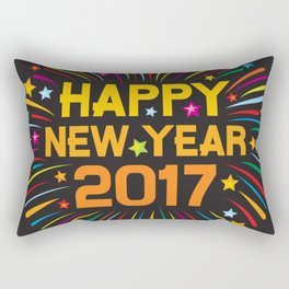 Happy new year 2017 firework Rectangular Pillow