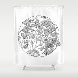 Gingko biloba Shower Curtain