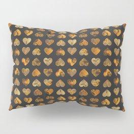 Orange heart's Pillow Sham