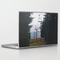 ski Laptop & iPad Skins featuring Ski Lift by Hannah Kemp