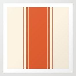 Marmalade & Crème Vertical Gradient Art Print