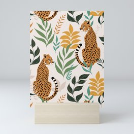 Spring Cheetah Pattern I - Green and Yellow Mini Art Print