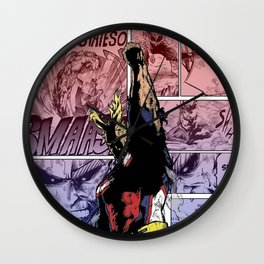 All Might Symbol of Peace Cover Wall Clock