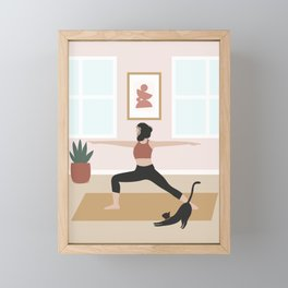 Yoga Home Framed Mini Art Print