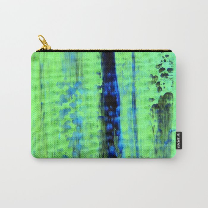 Gerhard Richter Inspired Urban Rain 2 - Modern Art Carry-All Pouch
