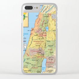 Map of Division of Canaan Twelve Tribal Lands Conquest Clear iPhone Case