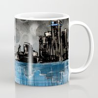 detroit Mugs featuring Detroit Reflection by RISE Arts