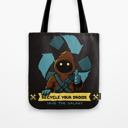 Recycle your droid Tote Bag