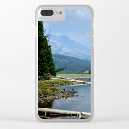The Blue Cascade Lakes Clear iPhone Case