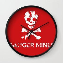 Danger Mines Wall Clock