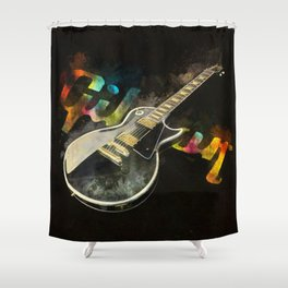 Come on Feel the Noise (Gibson Lp) Shower Curtain