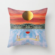 Eyes, lips & dreams Throw Pillow