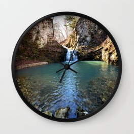 Alone in Secret Hollow with the Caves, Cascades, and Critters, No. 21 of 21 Wall Clock