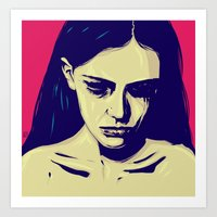 anxiety Art Prints featuring Anxiety by Giuseppe Cristiano