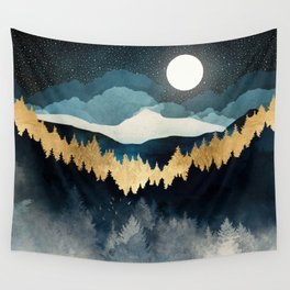 Indigo Night Wall Tapestry