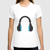 headphones T-shirts featuring Headphones by isaias_yoyo