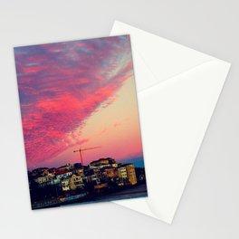 Bondi Beach Australia sunset Stationery Cards
