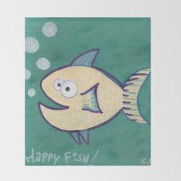 HAPPY HAPPY FISH! Throw Blanket