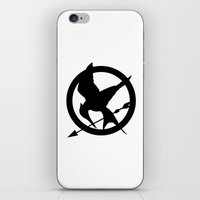 mockingjay iPhone & iPod Skins featuring The MockingJay  by Lauren Lee Design's