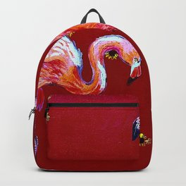 Sunning Flamingos Backpack