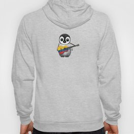 Baby Penguin Playing Colombian Flag Acoustic Guitar Hoody