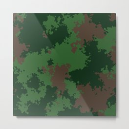 Camouflage forest Metal Print