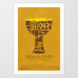 Indiana Jones and the Last Crusade Poster Art Print