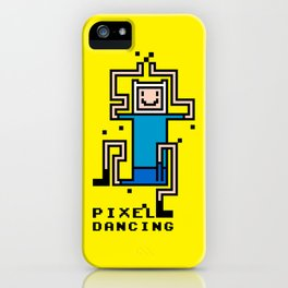 Pixel dancing iPhone Case