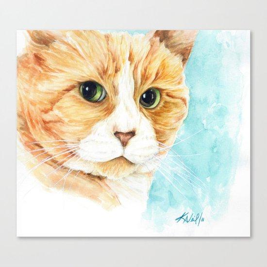 Stan the grumpy cat Canvas Print