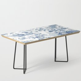 Powder Blue Chinoiserie Toile Coffee Table
