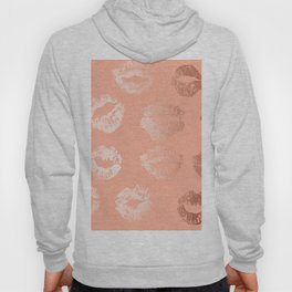 Sweet Life Lips Peach Coral Pink Shimmer Hoody