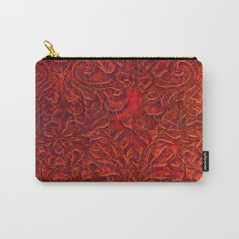 Burnt Orange Textured Abstract Carry-All Pouch