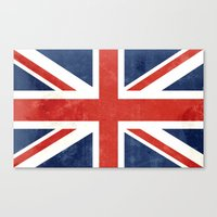 union jack Canvas Prints featuring Union Jack by Laura Ruth