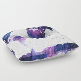 ALLOVER THE WORLD-Galaxy map Floor Pillow