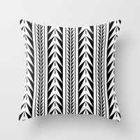 moroccan Throw Pillows featuring Moroccan Stripes by Caitlin Workman