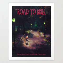 Road to Brill (Novel cover) Art Print