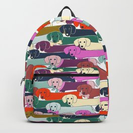colored doggie pattern Backpack