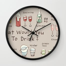What would you like to drink? Wall Clock