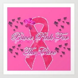 Power Pink for the Cure - Butterfly Blitz Art Print