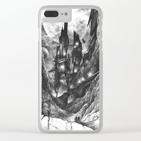 City in the far future Clear iPhone Case