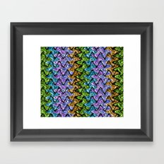 Native Wave Digital Painting Framed Art Print
