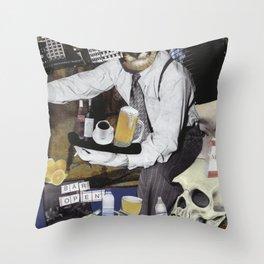 Bar Open Throw Pillow