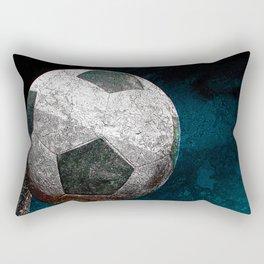 Soccer art print work vs 1 Rectangular Pillow