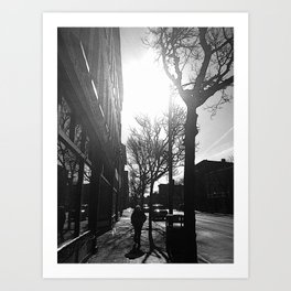 Market Street Life Art Print