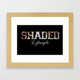 SHADED Lifestyle  Framed Art Print