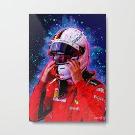 Sebastian Vettel racer Metal Print