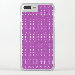 Distorsion in Purple Clear iPhone Case